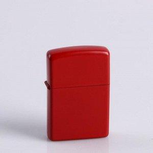 Зажигалка «Классика», красный, кремний, бензин