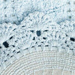 Ковер Прованс 40х60 ± 3 см. цв.голубой. 1200 гр/м2. 100% хлопок