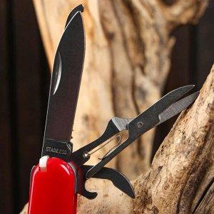 Нож швейцарский 9в1 красный