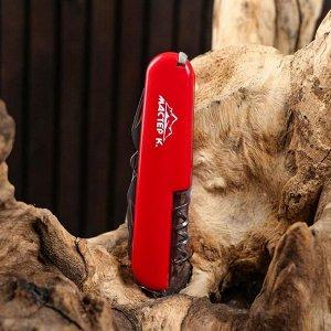 Нож швейцарский 11в1 красный
