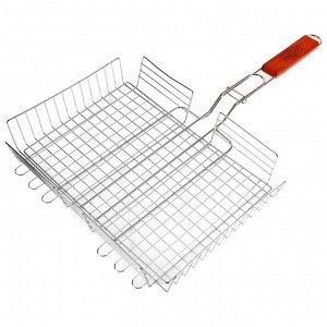 Решетка гриль для мяса 25 х 35 х 56 см, Lux, глубокая