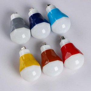Фонарь-лампа кемпинговый, LED, USB, 5 Вт, 50 тыс. ч. работы, PP-пластик, микс