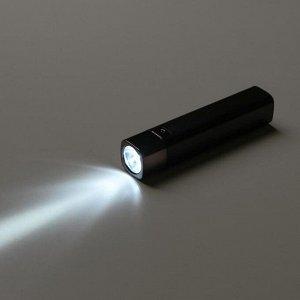 Фонарь ручной аккумуляторный 3 Вт, 800 мАч, USB, 3 режима 12х2.5 см