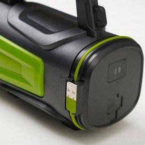 Фонарь ручной аккумуляторный 15 Вт, 1200 мА, USB, индикатор заряда  3 режима
