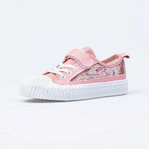 531222-11 розовый полуботинки дошкольно-школьные Текстиль
