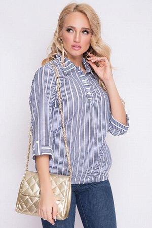 Блузка Блузка из текстильного полотна. 50% хлопок, 50% п/э