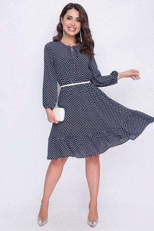 Платье Платье из текстильного полотна отрезное по линии талии.Ремень в комплект не входит. 30% вискоза 65% п/э,5% эластан