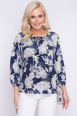Блузка Блузка из текстильного полотна свободного силуэта 30% вискоза 65% п/э,5% эластан