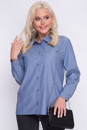Рубашка Джинсовая рубашка. 70 % хлопок 30 % п/э