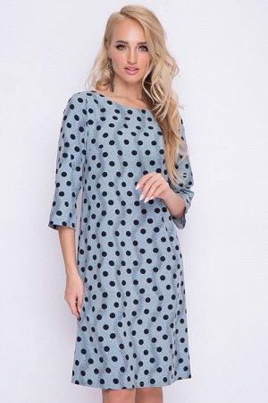 Платье Платье трапецевидного силуэта из легкого текстильного полотна. 30% вискоза 65% п/э,5% эластан