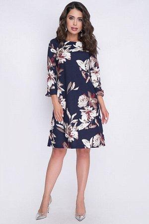 Платье Платье трапеция из трикотажного полотна. 30% вискоза 65% п/э,5% эластан