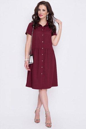 Платье Платье свободного силуэта из текстильного полотна,с центральной застежкой на петли и пуговицы до низа.Воротник отложной рубашечного типа. 30% вискоза 65% п/э,5% эластан