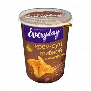 Крем-суп EVERYDAY грибной с лисичками и пшеничными сухариками т/с 32 гр