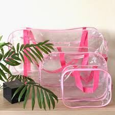 Набор сумок для роддома , 3 шт, розовые