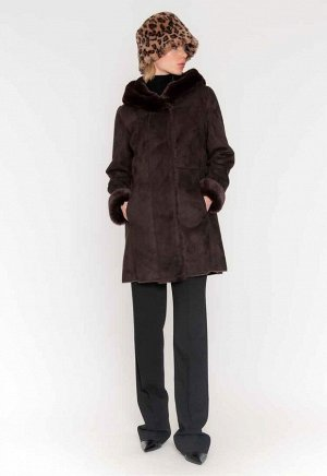 пальто искусственная замша и мех