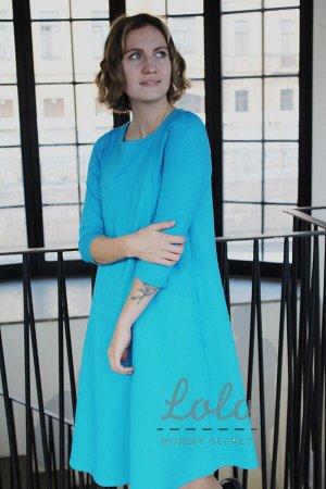 Платье для беременных и кормящих мам Dr030.6 бирюзовый
