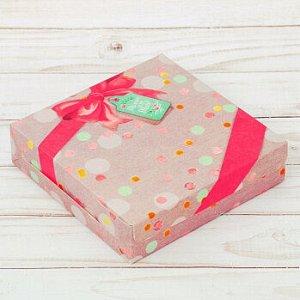 Коробка для печенья «Только для тебя», (Бант с лентой) 14*3,5 см