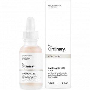 Сыворотка-пилинг с молочной кислотой The Ordinary Lactic Acid 10% + HA 2% Superficial Peeling Formulation
