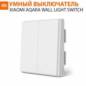 Умный выключатель двухклавишный Xiaomi Aqara Wall Light Switch