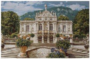 Белый замок Линдерхоф арт.4262 108х70 см гобелен без рамы