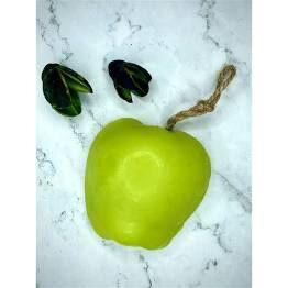 """Натуральное мыло  ручной работы """"Зеленое яблоко""""  120 гр"""