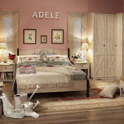 Классический и современный стиль. Мебель для каждого! — Спальня ADELE (Дуб Сонома-Орех шоколадный) — Мебель