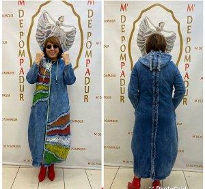 Джиновое пальто