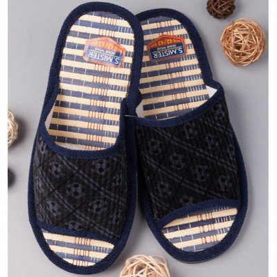 ТМ *РусБубон*. Шапочки, носочки для всей Семьи.Много Новинок — Мужская домашняя обувь — Тапочки