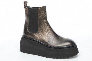 Ботинки Черная кожа МЕХ ЕВРО ХИТ Форма 106 Форма новая. Со слов фабрики, большемерит на размер высота платформы в пятке - 6,5см