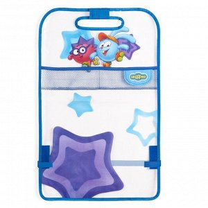 """Накидка- незапинайка """"Смешарики"""" для защиты спинки переднего сиденья от ног ребёнка, мягкий прозрачный ПВХ, цвет синий/голубой, SM/KMT-010 Krosh"""