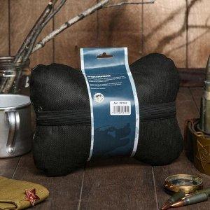 """Подушка автомобильная подарочная """"Настоящему мужчине"""", экокожа, черный, 16х24 см"""