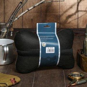 """Подушка автомобильная подарочная """"Настоящему мужчине"""", лен, коричневый, 16х24 см"""
