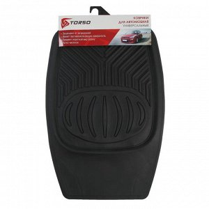 Набор ковриков для авто TORSO 4 шт, 70х48 см и 50х48 см, черный