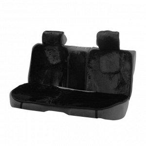 Накидки на сиденья Cartage универсальные, искусственный мех, чёрный, набор 6 шт