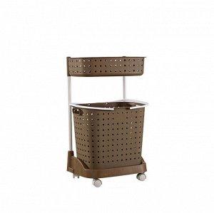 Стеллаж для белья и аксессуаров Х-8286 двухуровневый коричневый