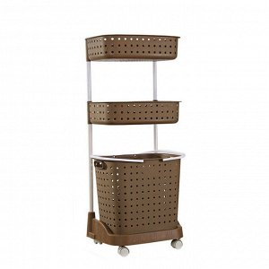 Стеллаж для белья и аксессуаров Х-8286 трехуровневый коричневый
