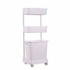 Стеллаж для белья и аксессуаров Х-8286 трехуровневый белый