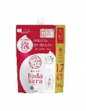 """Бархатное увлажняющее мыло-ПЕНКА для тела с ароматом букета цветов """"Hadakara"""" (мягкая упаковка с крышкой) 750 мл / 9"""