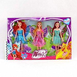 Кукла набор Winx club 30см (3куклы)(гнутся суставы)(№1436)