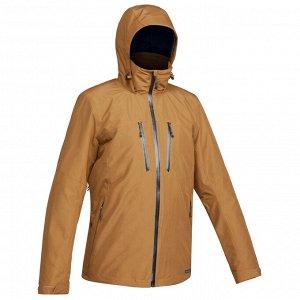 Куртка для треккинга при -10°C 3 в 1 водонепроницаемая TRAVEL 500 мужская корич. FORCLAZ