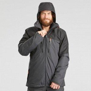 Куртка для треккинга при -10°C 3в1 водонепроницаемая TRAVEL 500 мужская черная FORCLAZ