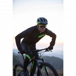 Утеплённая велокуртка для кросс-кантри чёрная ROCKRIDER
