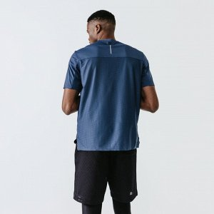 Футболка для бега мужская run dry+ breath синяя kalenji