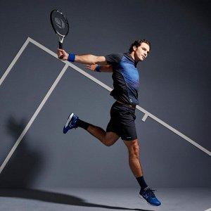 Футболка для тенниса мужская tts 500 dry синяя artengo