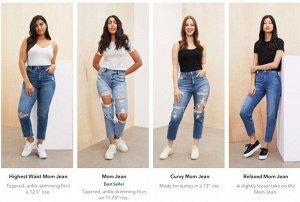 Mom Jeans Виды Mom Jeans