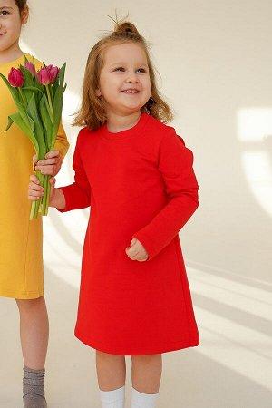 Платье с крылышками красный Мандарин
