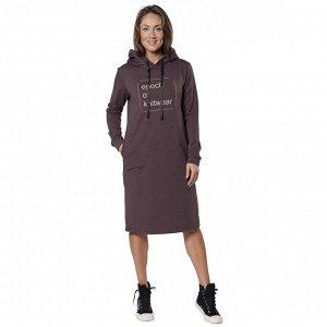 Платье из футера Еpoch of knitwear  ФП1357П1 коричневый
