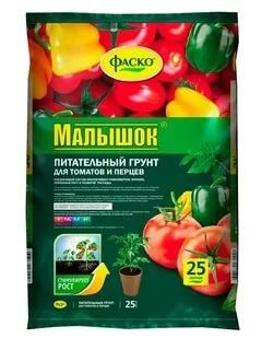 Грунт Малышок 25л (1уп/1шт) ФАСКО для томатов и перцев