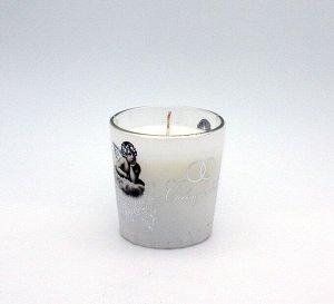 Свеча Хамелеон в Стекле Ангелочки арома Жасмин 7808
