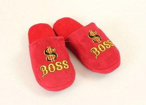 Тапочки мужские Boss S/41-42 654575 текстиль
